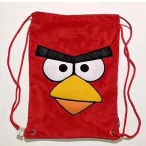 Angry Birds drawstring backpack tote